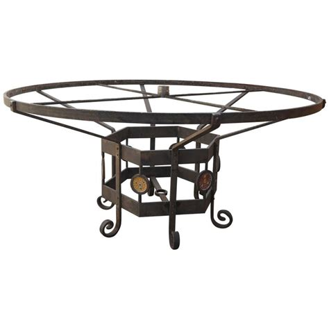 wrought iron table base for sale custom made wrought iron mosaic table base for sale at 1stdibs