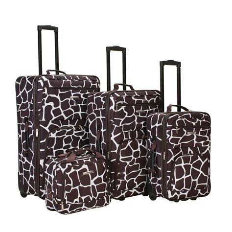 rockland 4 luggage set f105 giraffe the home depot