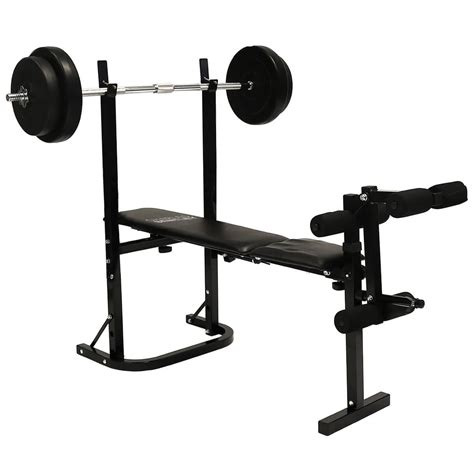 bench in gym multi purpose training bench barbell and dumbbell weight set