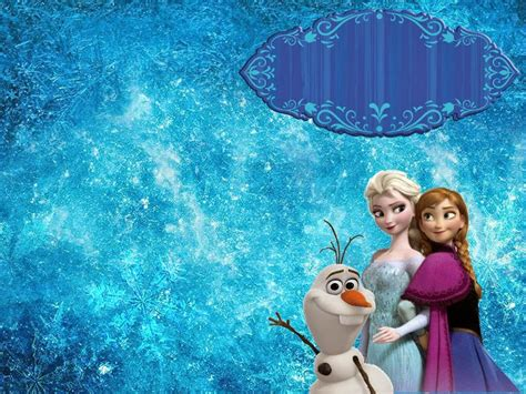 wallpaper frozen design free quot frozen quot birthday tarpaulin template