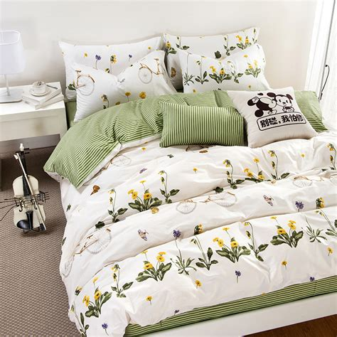 high quality sheets new arrival cotton activity printing bedding set bedclothes bed sheets floral bedding high