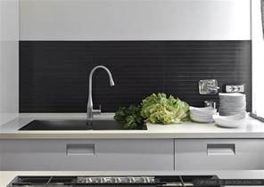 Modern Backsplashes For Kitchens by Modern Kitchen Backsplash Ideas Black Gray Tiles
