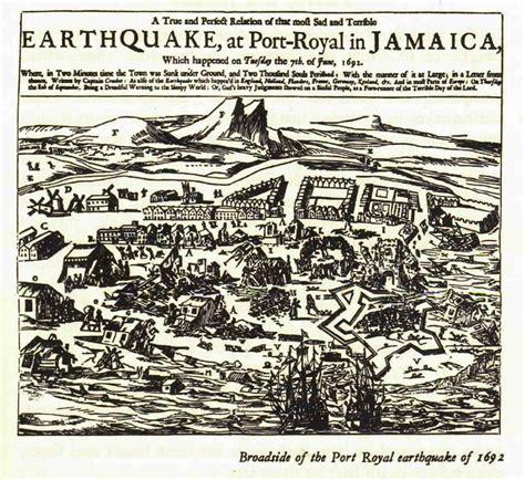 port royal jamaica history this day in history port royal earthquake caribbean news