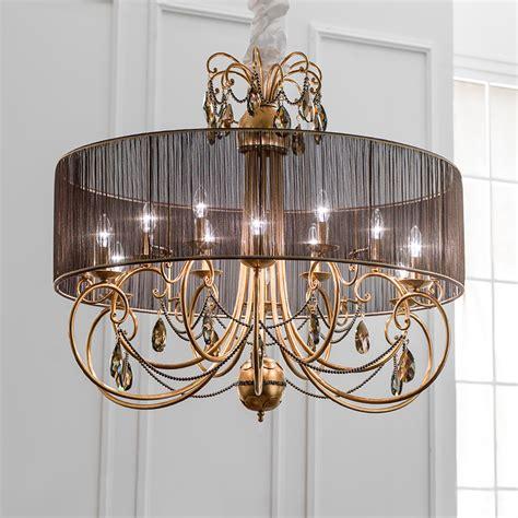 swarovski crystals chandelier modern gold leaf swarovski chandelier