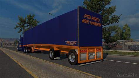curtain trailer mac curtain rollin transport skin american truck