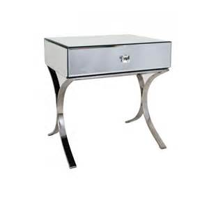 Mirrored Bedside Tables Sovana Mirrored Bedside Table