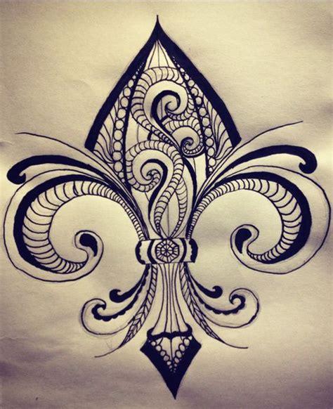 fleur de lis cross tattoo fleur de lis fleur de lis ideas meaning