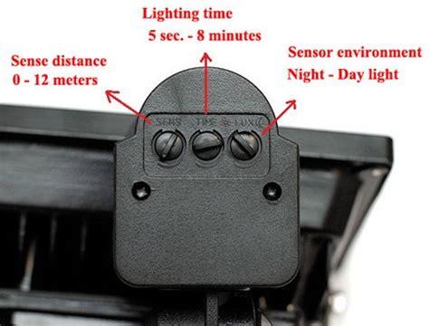 outdoor security light settings motion sensor outdoor light settings adjust motion