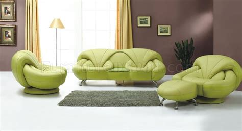 Light Green Leather Sofa by 2 Light Green Leather Sofa And Chair Set