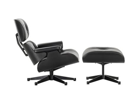 Buy The Vitra Eames Lounge Chair Ottoman All Black At Vitra Eames Lounge Chair And Ottoman