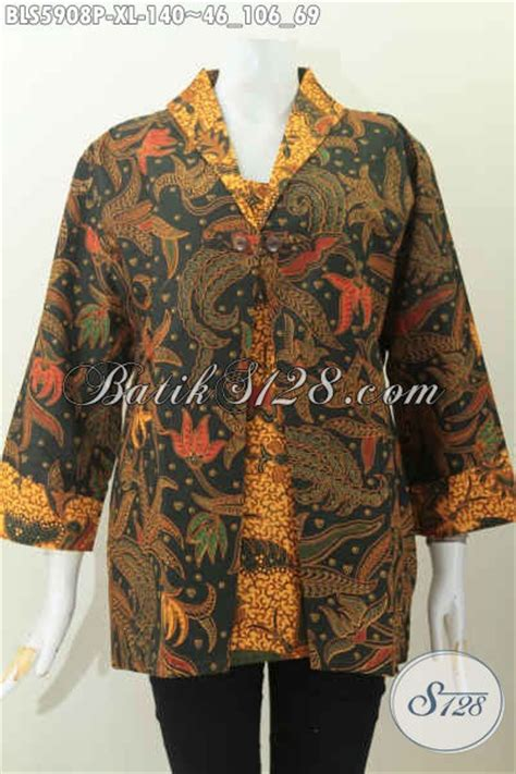 desain jas almamater wanita blus batik elegan dan mewah desain kombinasi jas baju