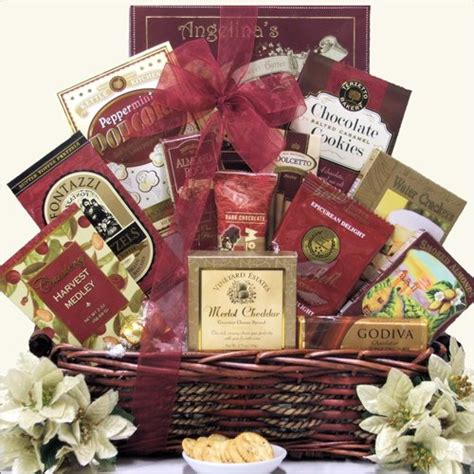 holiday wishes gourmet premium christmas gift basket