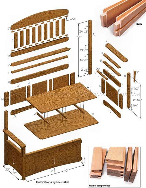 deacons bench plans deacons bench plans woodarchivist