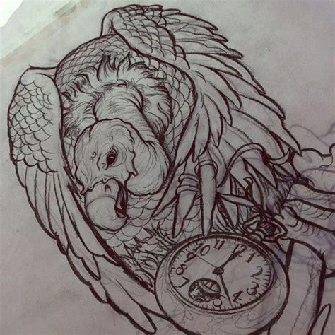 simple vulture tattoo vulture skull drawing