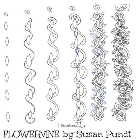 drawing vines pattern flowering vine zentangle pattern zentangles pinterest