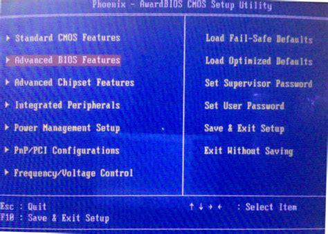 format harddisk lewat bios agar motherboard dengan bios phoenix dapat booting lewat