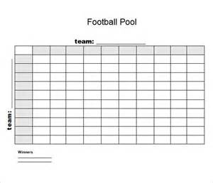 Football Blocks Template by Sle Football Pool 7 Documents In Pdf Word Excel