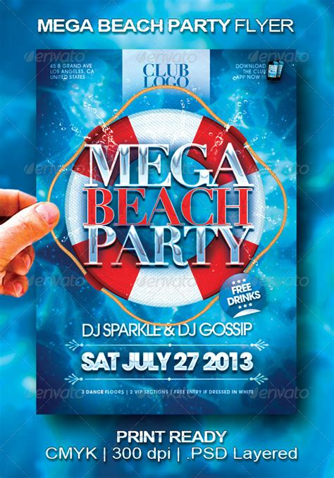 flyer templates size mega beach party flyer flyer size party flyer and flyer