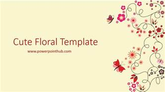 free powerpoint template cute floral template