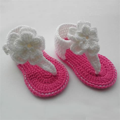 Handmade Baby Sandals - handmade baby summer flower shoes fashion flip flops shoes