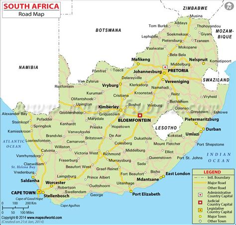 free printable road maps south africa road map of south africa here s how not to get lost