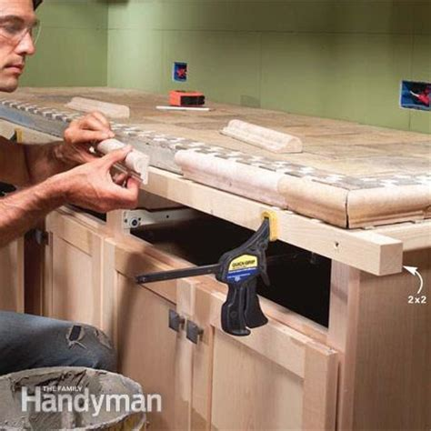 How To Install Kitchen Countertop Installing Tile Countertops The Family Handyman