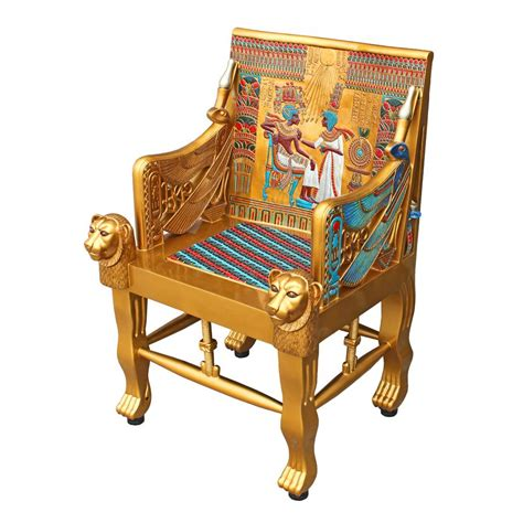 throne armchair tutankhamens throne chair design toscano chairs chair