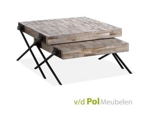 vierkante salontafel met kruispoot mf design set salontafels mastercraft met x poot kopen