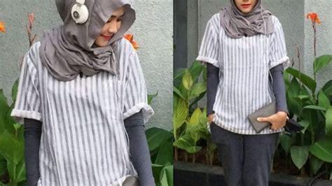 Baju Lengan Panjang Bloods tanpa harus melepaskan jilbab 6 gaya berbusana lengan