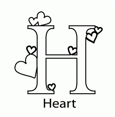 coloring pages for letter h things that start with the letter h coloring pages