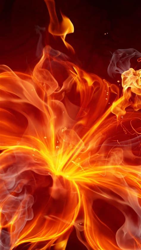 wallpaper iphone fire 640x1136 fire hibiscus iphone 5 wallpaper
