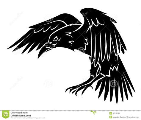 raven stock vector illustration of wild isolated