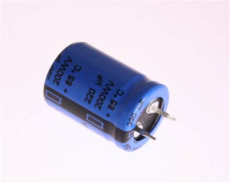 capacitor 220uf 200v 380l221m200h022 cde capacitor 220uf 200v aluminum electrolytic snap in 2020031467