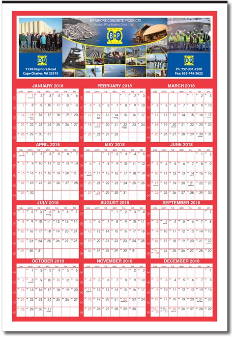 product details american calendar