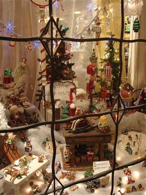 solvang christmas shop window night shot of a festive