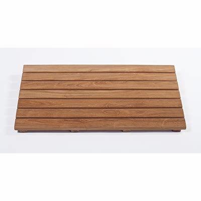 teak floor mat barrier free