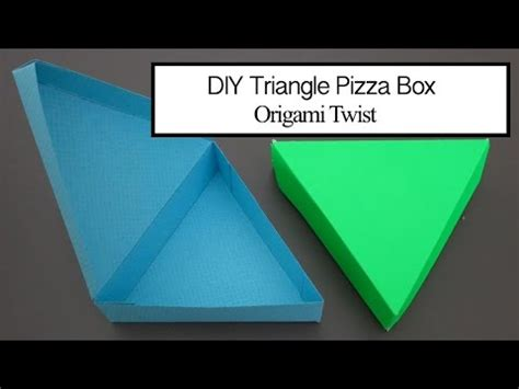 Origami Pizza Box - triangle pizza box trixin style