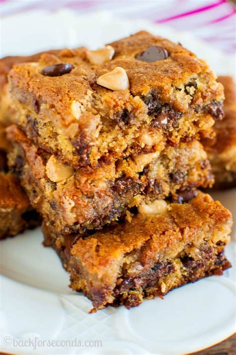 Peanut Butter Chocolate Chip Bars peanut butter chocolate chip banana bars back for seconds