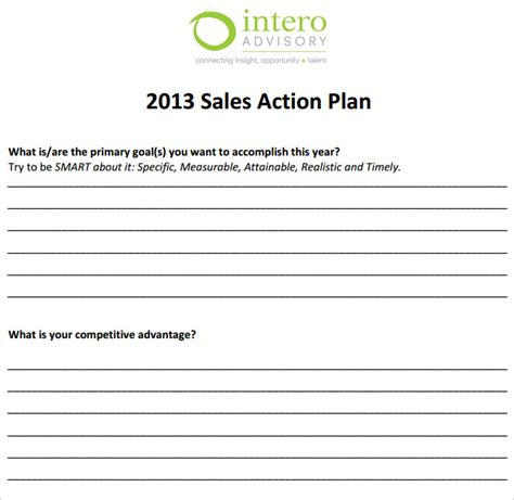 Sales Action Plan Template 11 Free Word Excel Pdf Format Download Free Premium Templates Sales Opportunity Plan Template