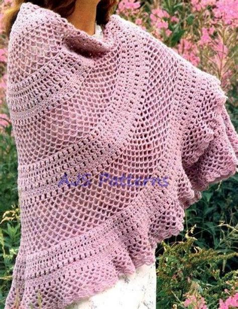 crochet shawl patterns free to print 17 best images about lovely crochet patterns on pinterest