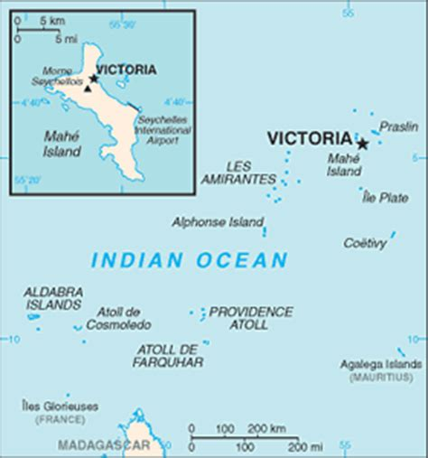 seychelles map indian the geography of seychelles
