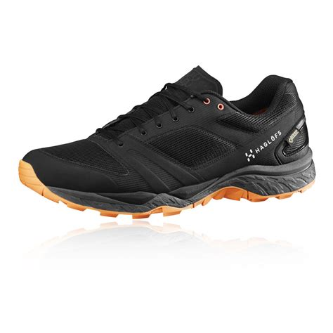 running shoes waterproof haglofs gram gravel mens black tex waterproof running