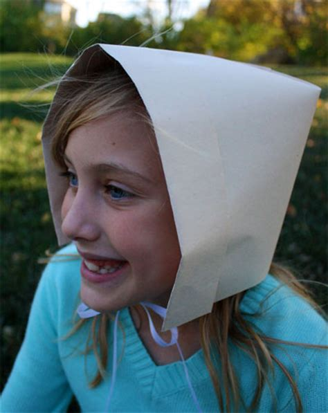 How To Make A Paper Bonnet - how to make a pilgrim bonnet out of paper skip to my lou