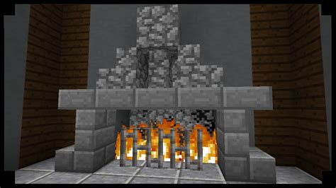 minecraft how to make simple fireplace youtube