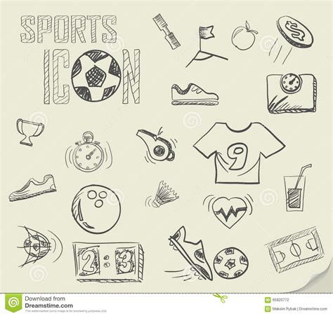 doodle football soccer doodles stock vector image of trophy line