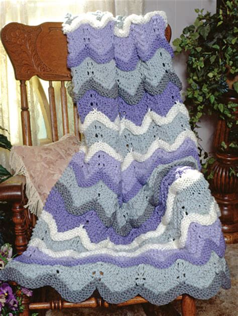 free knitted ripple afghan pattern classic afghan knitting patterns afghan free