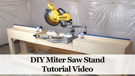 diy miter saw bench how to build a miter saw stand doovi