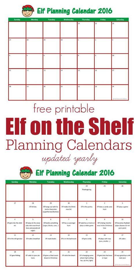 Printable Elf On The Shelf Planner | elf on the shelf planning calendar calendar on the
