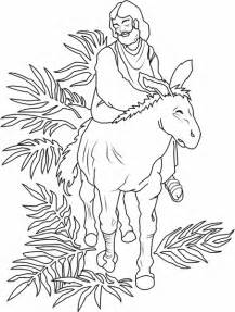 palm sunday coloring page palm sunday triumphal entry into jerusalem