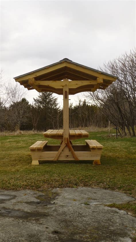 picnic pavilion timber frame shelter table combined